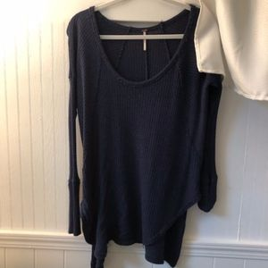 Free People Navy sweater shirt. Size small